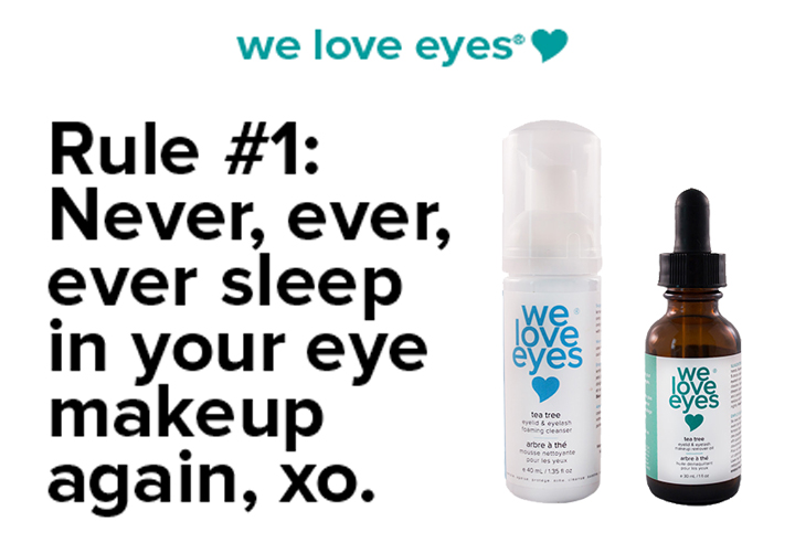We Love Eyes for everyday eye makeup removal